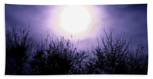 Purple Eclipse Beach Towel