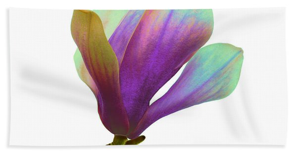 Purple Magnolia Beach Towel