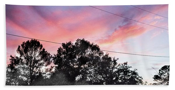Purple Sky Beach Towel