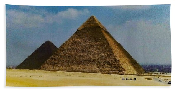 Pyramids, Cairo, Egypt Beach Towel