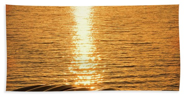 Beach Towel featuring the photograph Quinault Sunset Retake by Michael Hope