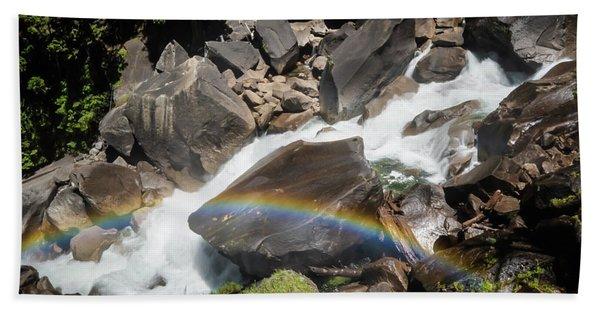 Rainbow At Vernal Falls- Beach Towel