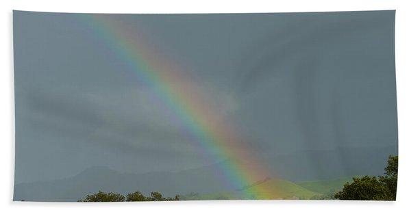 Rainbow On Valhalla Dr. Beach Towel