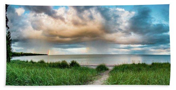 Rainbow Sunset Beach Towel
