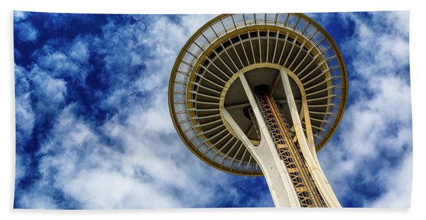 Reach For The Sky - Seattle Space Needle Beach Towel