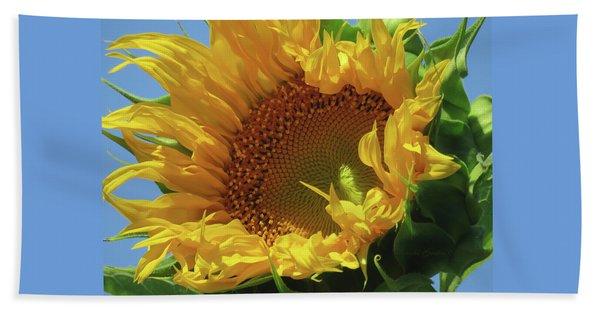Reach For The Sky Sunflower - Floral Art From The Garden - Floral Macro Beach Towel