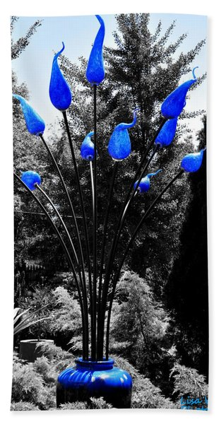 Reaching For The Sky Selective Coloring Beach Towel