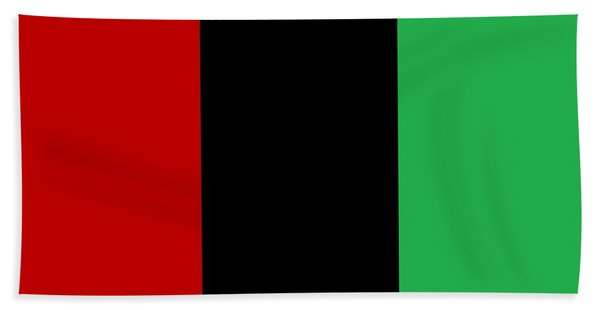 Red Black And Green Beach Towel