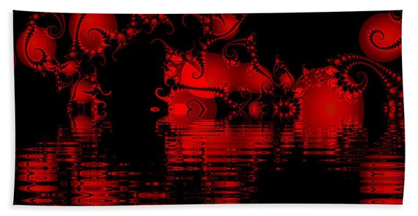 Red Lake Cave Fractal Beach Towel