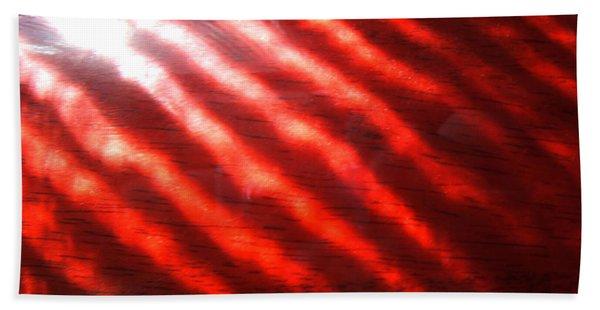 Red Rhythm Photograph Beach Towel