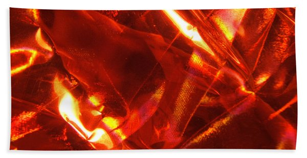Red Satin Universe Photograph Beach Sheet