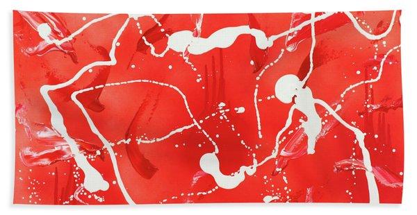 Red Spill Beach Towel