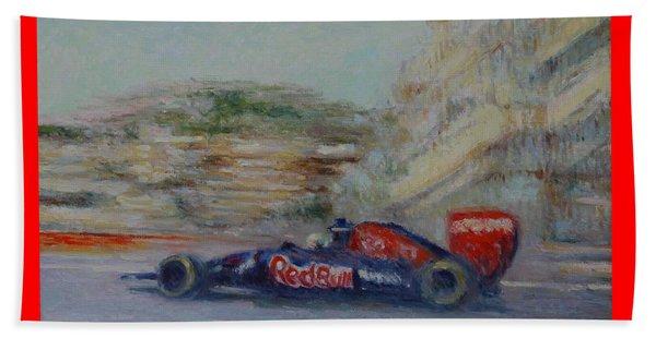 Redbull Racing Car Monaco  Beach Sheet