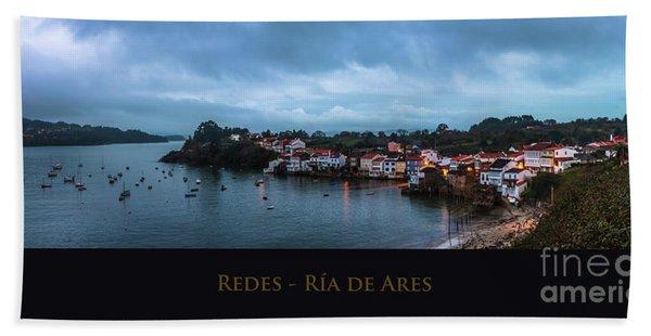 Redes Ria De Ares La Coruna Spain Beach Towel