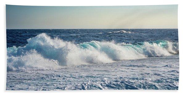 Reef Break On The Morning Light Beach Towel