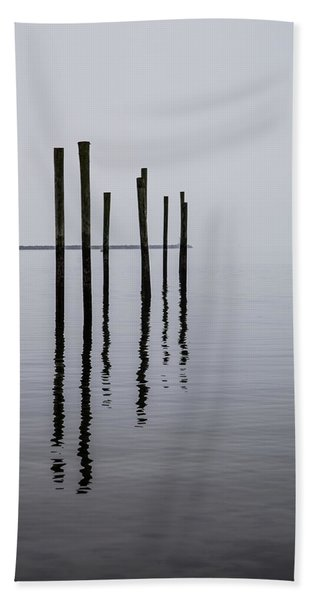 Reflecting Poles Beach Towel