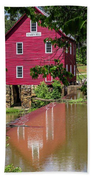 Starrs Mill Reflection Beach Towel