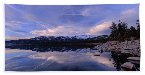 Beach Towel featuring the photograph Reflection In Winter by Sean Sarsfield