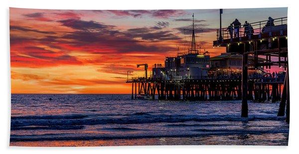Reflections Of The Pier Beach Sheet