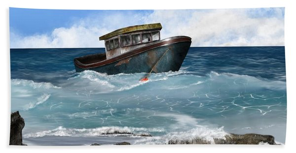 Beach Towel featuring the digital art Retiring From The Fleet by Mark Taylor