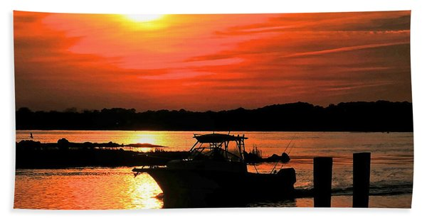 Return At Sunset Beach Towel