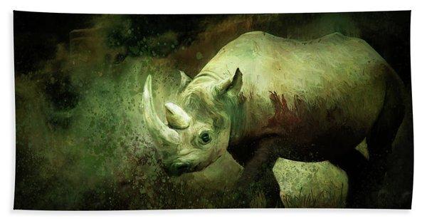 Rhino Beach Towel