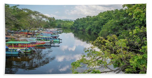 River Views In Negril, Jamaica Beach Towel