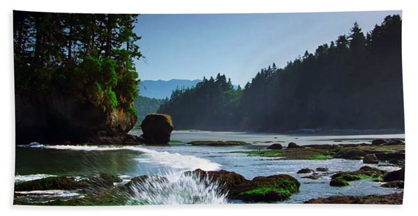 Rivers And Lakes Around Olympic National Park America Beach Towel