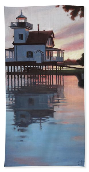 Roanoke River Light Beach Towel