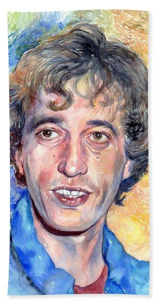 Robin Gibb Portrait Beach Towel