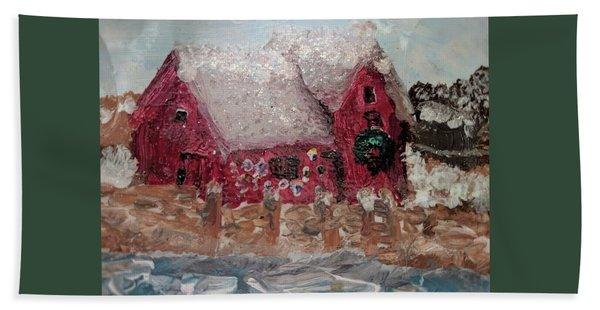 Rockport Christmas 1 Beach Towel