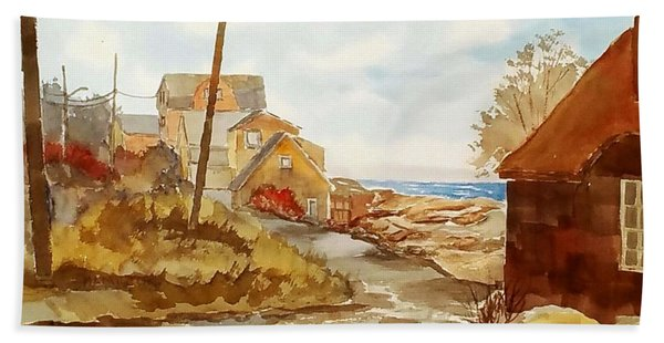 Rockport Coast Beach Towel