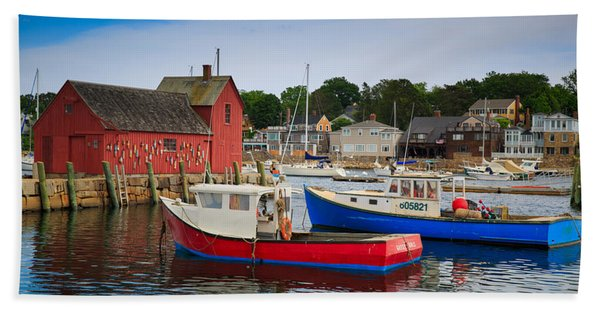 Rockport Harbor 2 Beach Towel