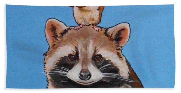 Rodney The Raccoon Beach Towel