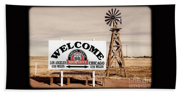 Route 66 Midpoint  Beach Towel