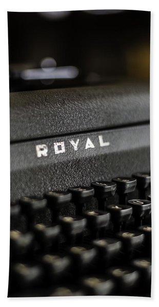 Royal Typewriter #19 Beach Towel