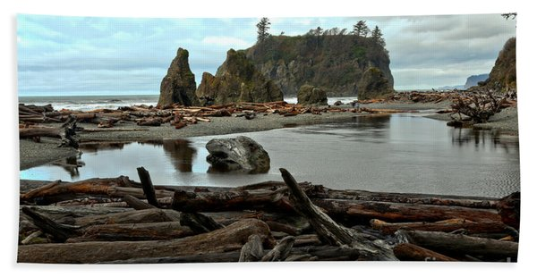 Ruby Beach Driftwood Beach Towel