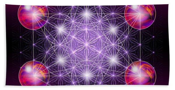 Sacred Geometry Metatron Beach Towel