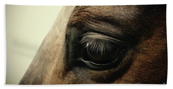 Sadness Horse Eye Beach Towel