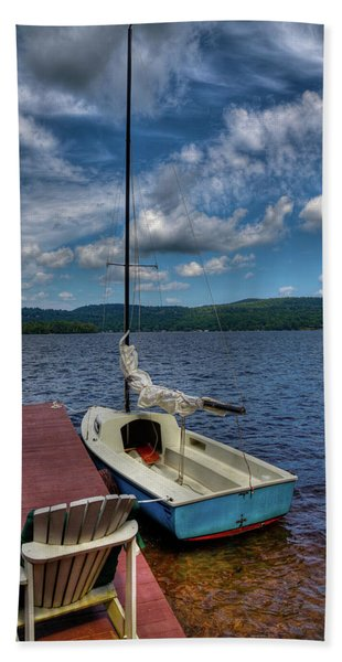 Sailboat On First Lake Beach Towel