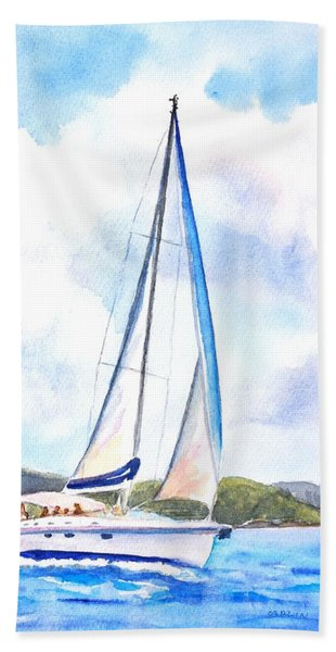 Sailing The Islands 2 Beach Towel