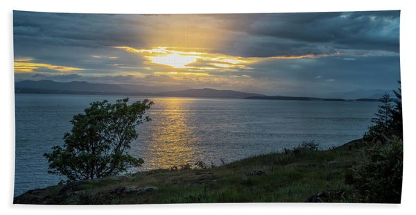 Beach Towel featuring the photograph San Juan Island Sunset by Tom Singleton