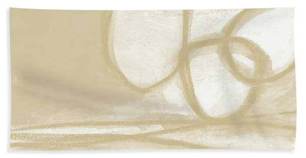 Sand And Stone 6- Contemporary Abstract Art By Linda Woods Beach Towel