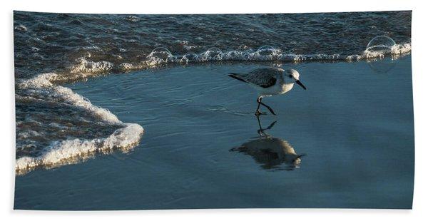 Sanderling Reflection Delray Beach Florida Beach Towel