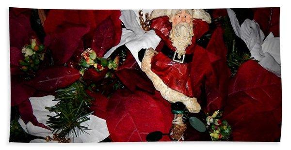 Santa Fling Beach Towel
