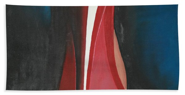 Beach Towel featuring the painting Sassy Shoe by Jacqueline Athmann