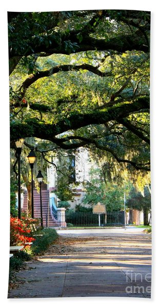 Savannah Park Sidewalk Beach Towel