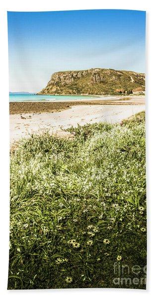 Scenic Stony Seashore Beach Towel