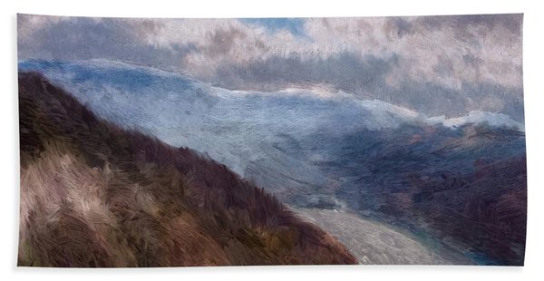 Beach Towel featuring the painting Scottish Landscape by Mark Taylor