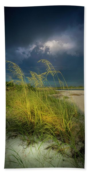 Sea Oats In The Storm Beach Towel